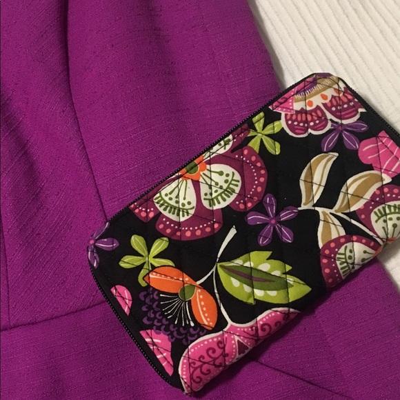 Vera Bradley Accordion Wallet Pirouette Pink NWT 6a1dc5fe82627